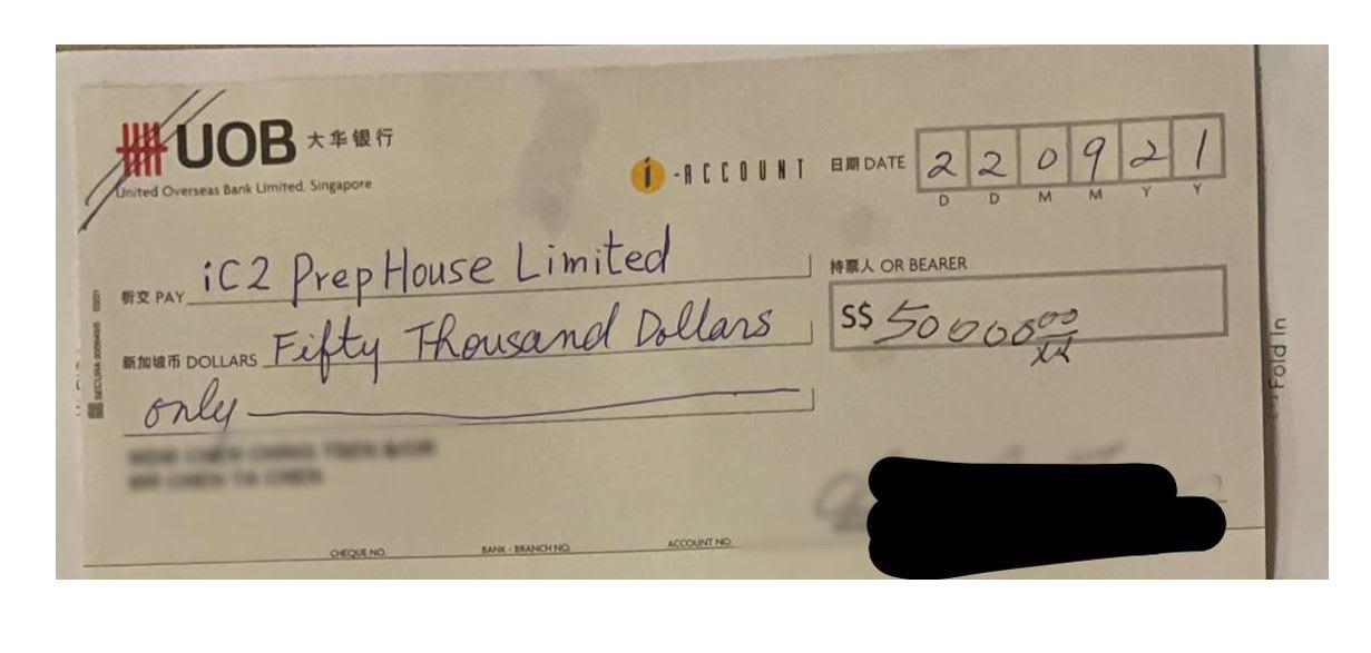移居狮城想回馈社会 99岁嬷乐捐逾15万元